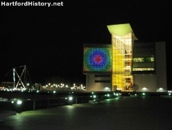 Connecticut Science Center at night