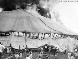 Circus tent ablaze